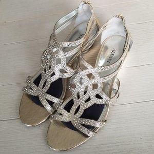 Alfani Open Toe Gladiator Sandals - Platino